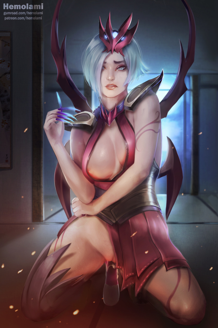 in blood game moon akali Avatar the last airbender meng