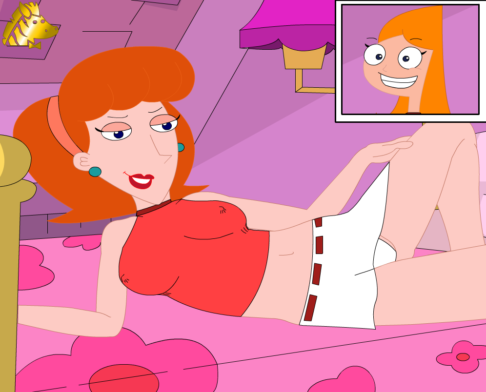 phineas and naked ferb candace Earth chan x moon chan